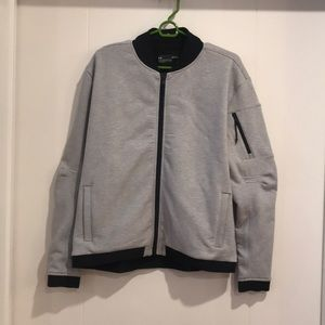 Under Armour Gray with Black Trim Bomber Jacket